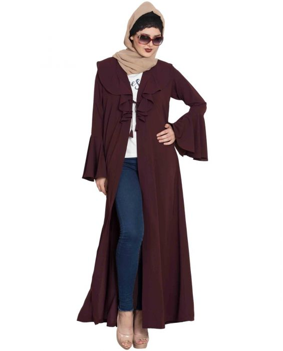 Long Cardigan with Bell Sleeves - Not An Abaya
