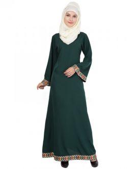 Colourful Burqa-Green
