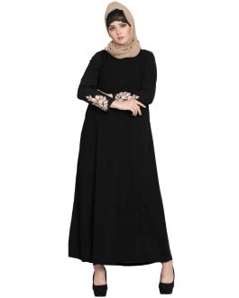 Casual Long Dress With Embroidery-Not An Abaya