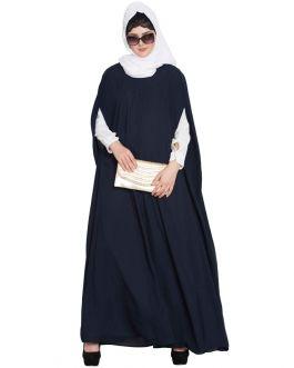 Casual Long Dress And A Long Cape Combo- Not An Abaya