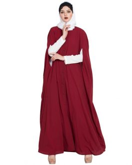 Casual Long Dress And A Long Cape Combo- Not An Abaya