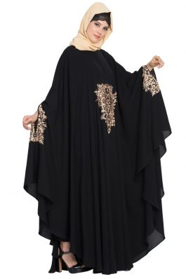 Embroidered Irani kaftan in Free Size-Not An Abaya