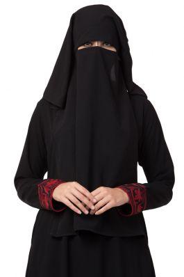 Black Naqaab For Any Abaya