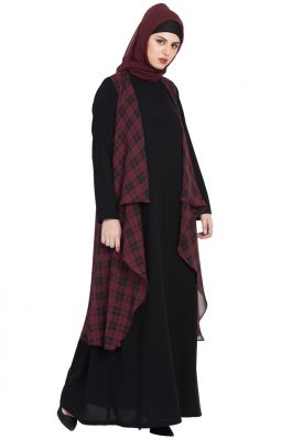 Printed Georgette Shrug-No Abaya-Only Shrug