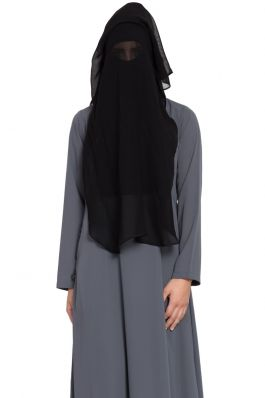 Naqaab In Triple Layer. Comes Without Abaya