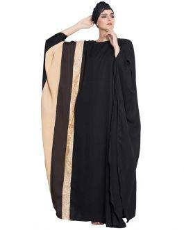 Sabat-Multi Color- Kaftan Abaya -Black-Beige-Brown-Premium Nida