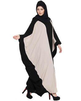 FARIHA-ELEGANT KAFTAN IN DUAL COLOR FOR A PERFECT DAY-BLACK-NUDE